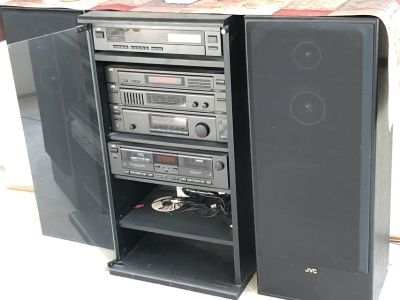JVC Stereo w/surround sound/compact disc/computer controlled/double cassette/large & small speak...