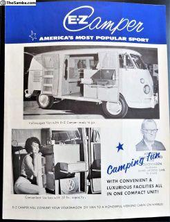Bus EZ Camper Brochure Original 1964 Littlerock CA