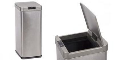 Touch free ss trash can w/ auto motion sensor lid