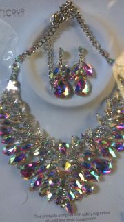 Marquise Crystal vine necklace set