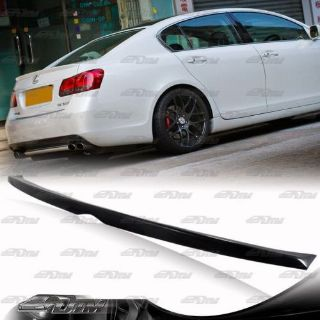Buy Black Polyurethane Rear Trunk top Spoiler Wing Lip For 07-11 Lexus GS350 460 motorcycle in Rowland Heights, California, United States