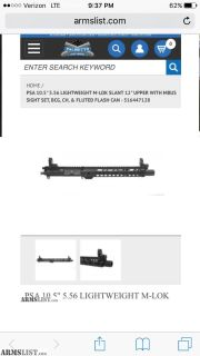 "For Sale: Ar15 upper 10.5"" & extra"