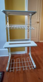Mobile Rolling Dual Printer Storage Stand, Rack, Cart