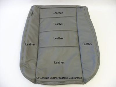 Purchase 2007 Ford F-250 F-350 Lariat Diesel or Gas Driver Bottom Leather Seat Cover Gray motorcycle in Houston, Texas, United States, for US $195.00