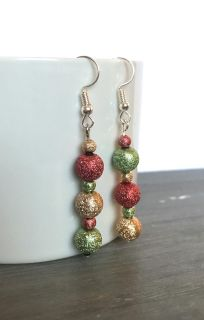 Sparkly Christmas Drop Earrings