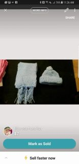 Blue hat and scarf