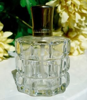 Vintage Pressed Glass Refillable Step Paris Atomizer Perfume Bottle