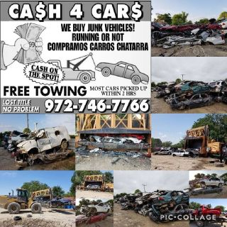 We buy old junk cars running or not , compramos carros chatarra!!!! 9727467766 call for quote, we pa
