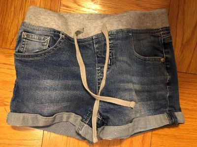 Justice Brand Drawstring Blue Jean Shorts. Nice Condition. Size 10