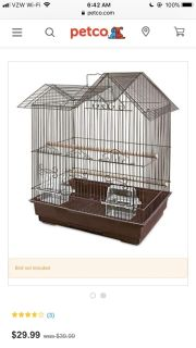 Looking for parakeet bird cage