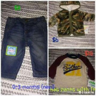 Nrand new 0-3 months baby clothes