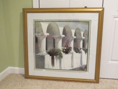 Framed and Matted Artwork Large Picture