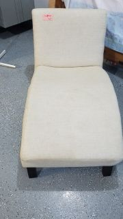 "26"" W x 48"" L Beige Fabric Lounge Chair"