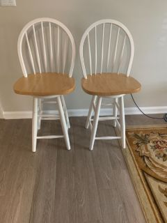 Two bar stools like new