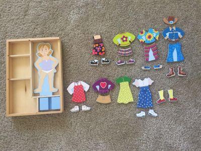 Magnetic Dress-Up Wooden Doll