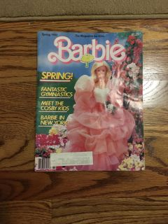 Spring 1985 Barbie Magazine. Cover in two pieces as split in binding but magazine inside is intact. Gallatin unless going to H ville.