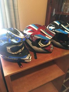 Youth size BMX helmets