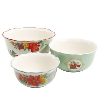 The Pioneer Woman Winter Bouquet Large (3-Piece Nesting Bowl Set)