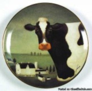Franklin Mint Cow Country Plate