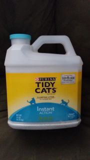 Tidy cat instant action clumping cat litter. New!