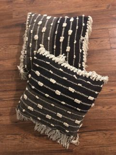 Black/Gray/Cream 16 x16 Pillow Set