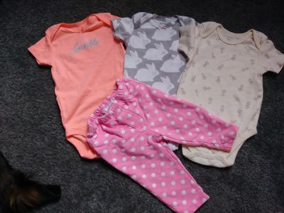 EUC LOT of 0-3 months girl onesies & pants PICK UP ONLY