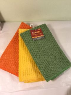 Home Thanksgiving theme three pack kitchen towels