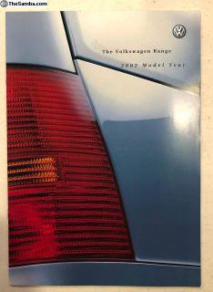 2002 VW Model range brochure England