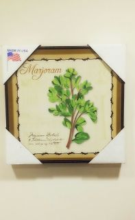 Marjoram Herb Wall Art Decoration