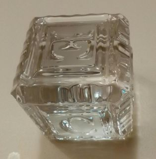 Waterford Crystal Building Block Decor/Paperweight