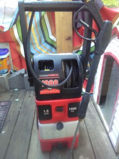 clean force 1800 psi power washer lavadora