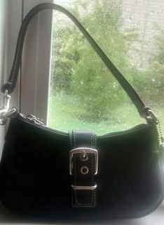 Real Coach Signature Leather Small Hobo Bag