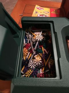 Assorted Knex with carry/storage case