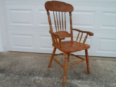 Chair, arm chair, wood, good condition