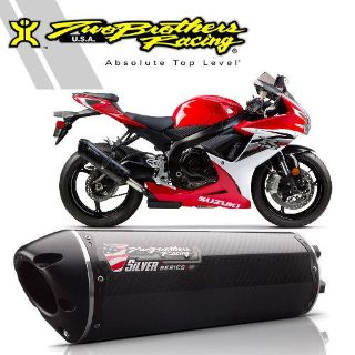 Find Two Brothers Suzuki GSX-R600/750 2011-13 Carbon Fiber Silver Slip-On Exhaust motorcycle in Ashton, Illinois, US, for US $427.96