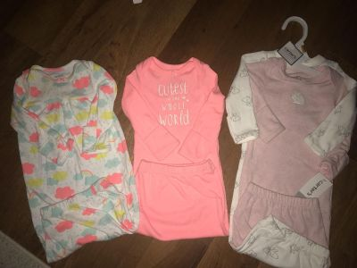 Carters NB night gown sleepers.