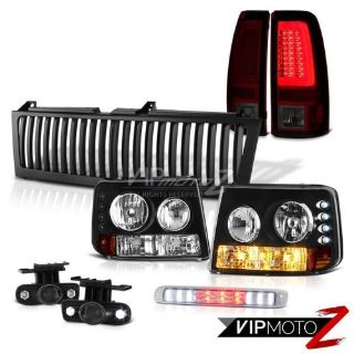 Buy 99-02 Silverado 6.0L Tail Lights Vertical Grille High Stop Lamp Fog Tron Style motorcycle in Walnut, California, United States, for US $421.54