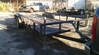20 Flat Bed Utility Trailer