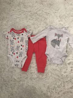 Lamaze 3 piece baby outfit