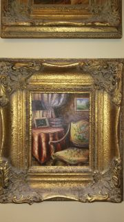 Authentic Oil Painting: Parlor