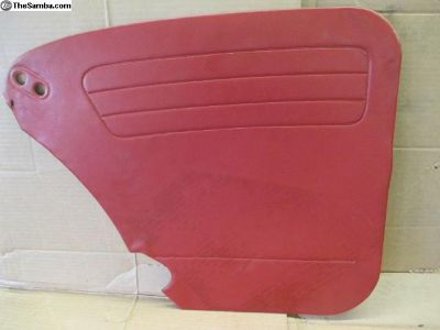 Rear Interior Panel In Red Beetle 1968 Up
