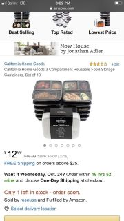 New! California home goods Food prep containers