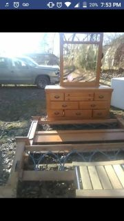 Orleans Furniture Co Headboard and dresser