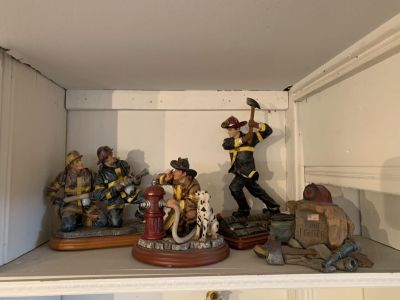 Fire fighter statues