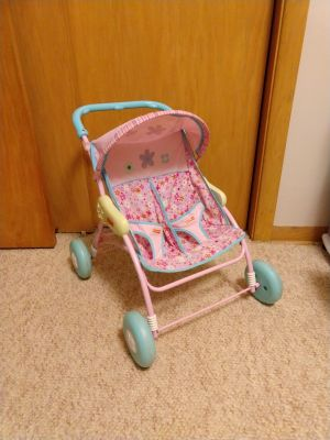 Small double doll stroller