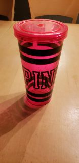 Pink drink cup missing straw