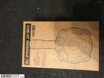For Sale: AR15 Magpul PMAG D-60 60-Round AR/M4 Drum Magazine
