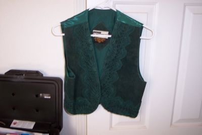 Green Suede Vest SZ small