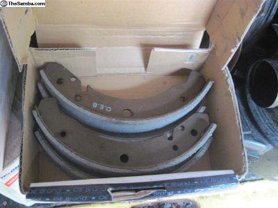 Rear brake shoes 8-'64 through 7-'67