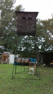 4x5 box deer stand with 12 foot legs